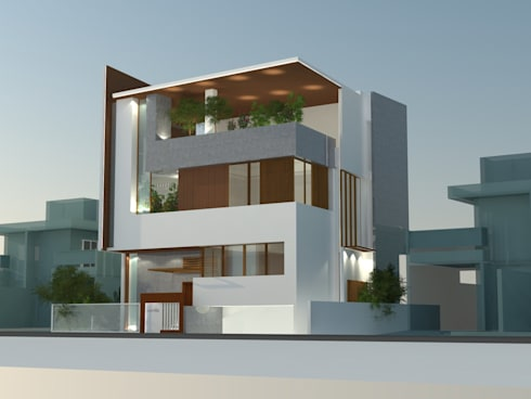 a residence in gulbarga:   by monolith projects