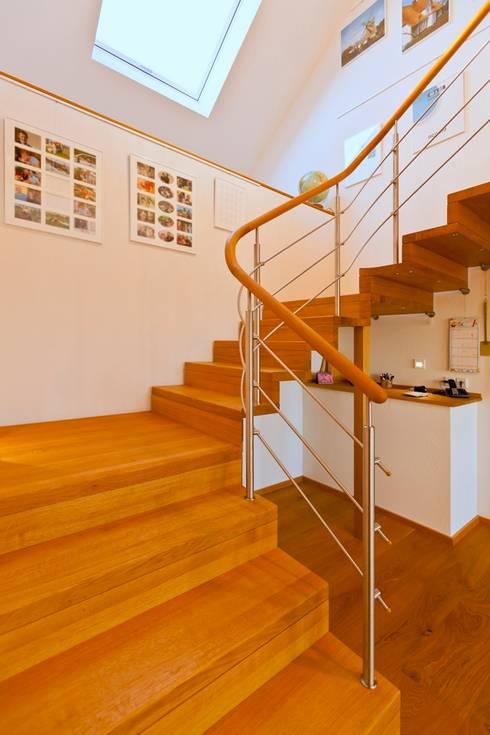 Skan hus gmbh modernes und kologisches holzhaus kalmar for Modernes haus treppe