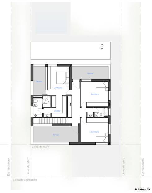 Casas de estilo moderno por S.TS Arquitectos