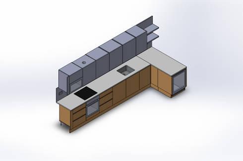 Design Automation for Metal & Wood Furniture Manufacturer: modern Kitchen by TrueCADD