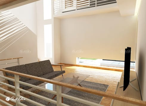 minimalistic Living room by christstevie architecture interior contractor
