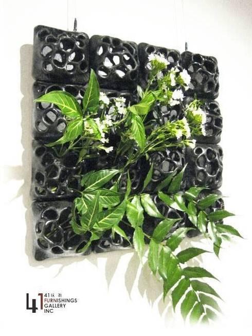 方形花器:  室內景觀 by 四一室內裝修有限公司