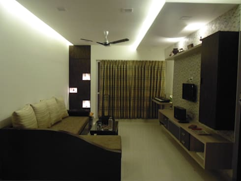 IMPERIUM BALEWADI: modern Living room by decormyplace.com