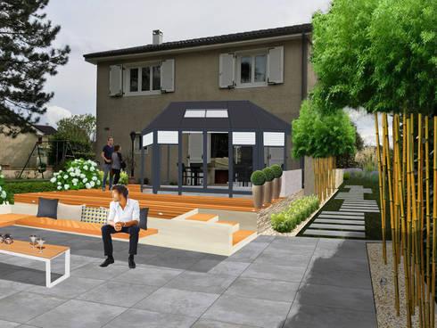 Jardin contemporain zen et pur la claye souilly 77 for Jardin moderne epure