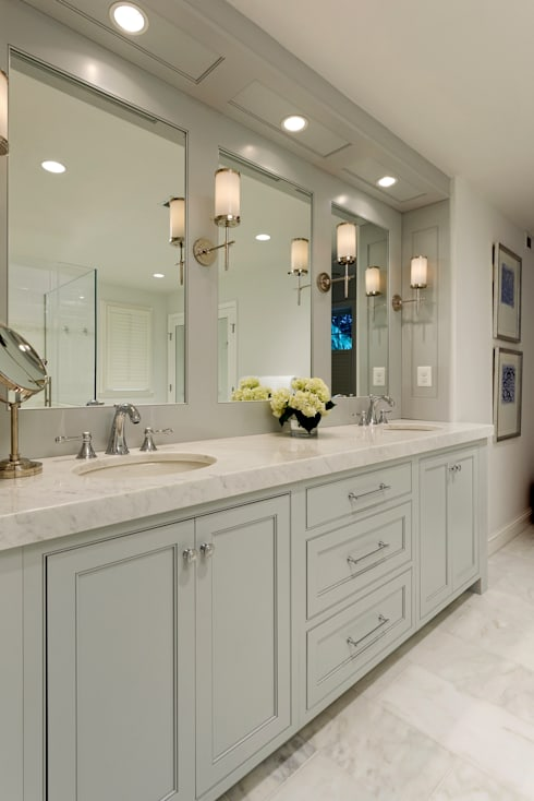Whole House Design Build Renovation in Bethesda, MD: classic Bathroom by BOWA - Design Build Experts