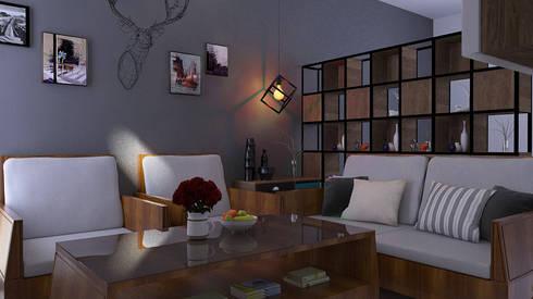 Living Room:   by JSK STUDIO DESIGN