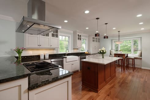 First Floor and Outdoor Living Transformation in Vienna, VA: classic Kitchen by BOWA - Design Build Experts