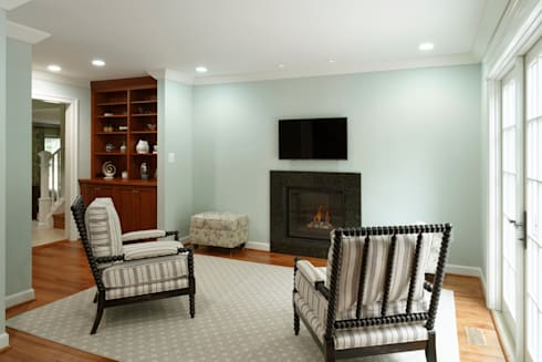 First Floor and Outdoor Living Transformation in Vienna, VA: classic Living room by BOWA - Design Build Experts