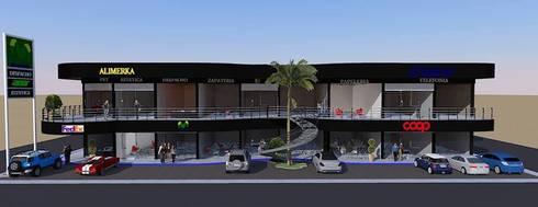 Locales comerciales por dac dise o arquitectura y for Construccion de modulos comerciales