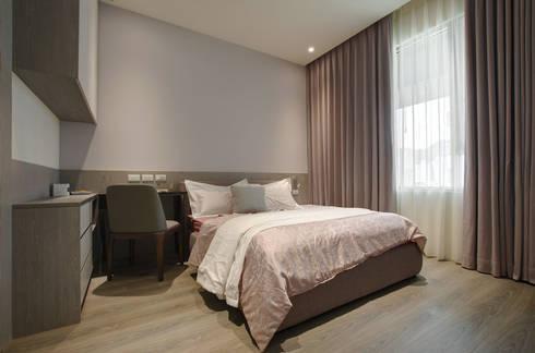 現代簡約家居:  臥室 by 哲嘉室內規劃設計有限公司