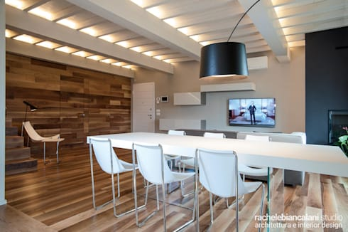 minimalistic Dining room by Rachele Biancalani Studio - Architecture & Design