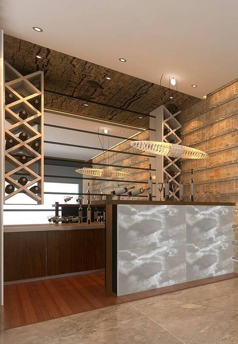 Apartment Interiors:  Wine cellar by M/s GENESIS