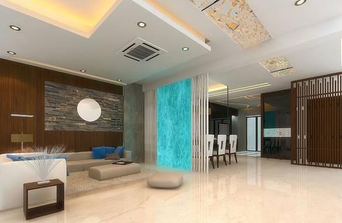 Apartment Interiors:  Corridor & hallway by M/s GENESIS