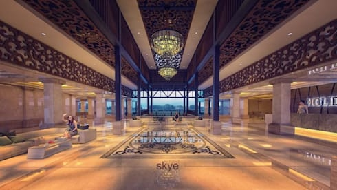 Lobby View:  Hotels by Skye Architect