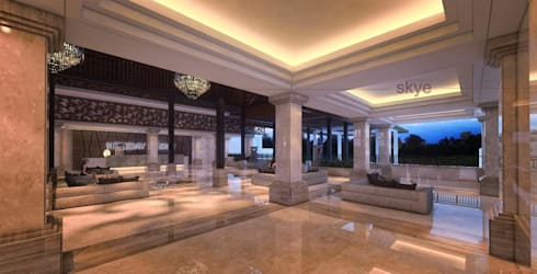 Lobby View 3:  Hotels by Skye Architect