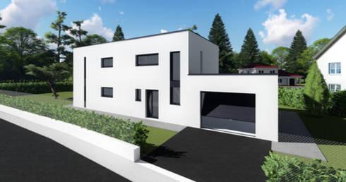 permis de construire pour une maison avec toit terrasse par permettez moi de construire homify. Black Bedroom Furniture Sets. Home Design Ideas