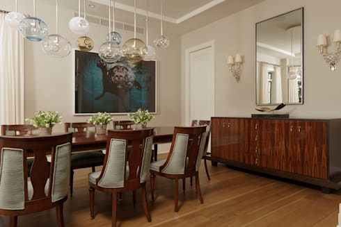 Fire Restoration in Chevy Chase Creates Opportunity for Whole House Renovation: classic Dining room by BOWA - Design Build Experts