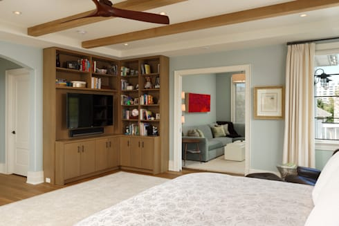 Fire Restoration in Chevy Chase Creates Opportunity for Whole House Renovation: classic Bedroom by BOWA - Design Build Experts