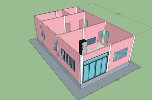 บ้านคิ๊ตตี้ kitty house:  ห้องนอน by ภูมิพัฒน์รับสร้างบ้าน