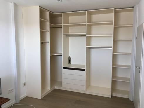 Offener kleiderschrank in kleinem zimmer  Neuer Boden und begehbarer Schrank in kleinem Zimmer von Bauer ...