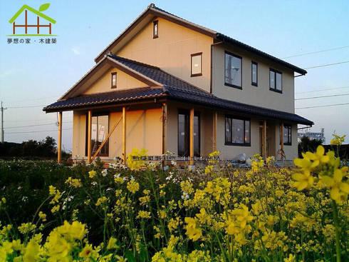 客製化設計-和風農舍-日式綠建築:  別墅 by 詮鴻國際住宅股份有限公司