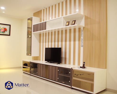 tv cabinet:  Kamar Tidur by Matter Interior