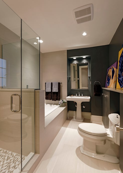 Luxury Kalorama Condo Renovation in Washington DC: classic Bathroom by BOWA - Design Build Experts