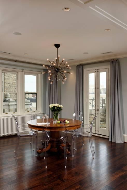 Luxury Kalorama Condo Renovation in Washington DC: classic Dining room by BOWA - Design Build Experts