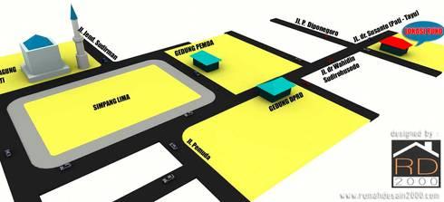 Peta lokasi ruko 2 lantai:  Kantor & toko by Rumah Desain 2000