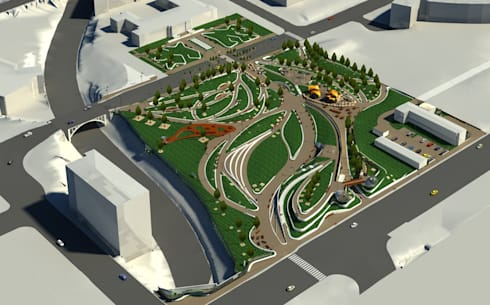 Aerial View - LOD 300 Modelling:   by Hi-Tech CADD Services