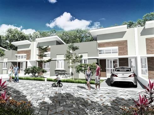 Tipe 36 Perumahan Bukit Intan Permai :   by bplusarsitektur