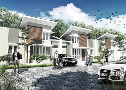 Tipe 42 Perumahan Bukit Intan Permai :   by bplusarsitektur