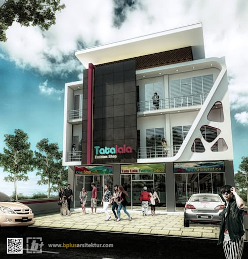 Ruko 3 Lantai Tatalala:  Kantor & toko by bplusarsitektur