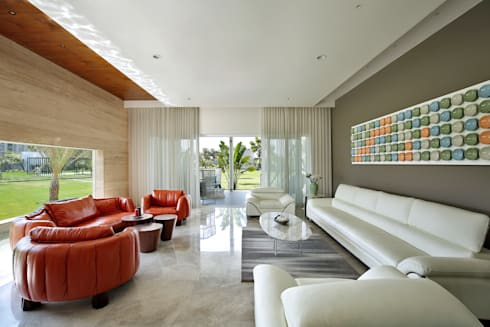 kabir bungalow: modern Living room by USINE STUDIO