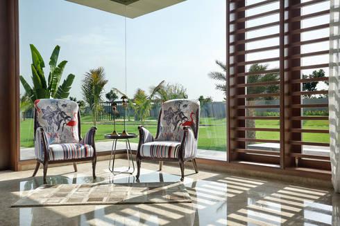 shree bungalow:  Terrace by USINE STUDIO