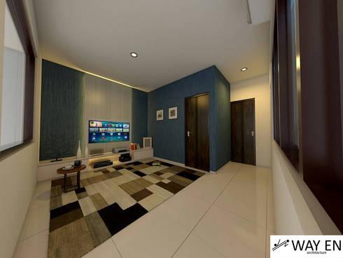 Ruang Keluarga:  Living room by Way En Architecture