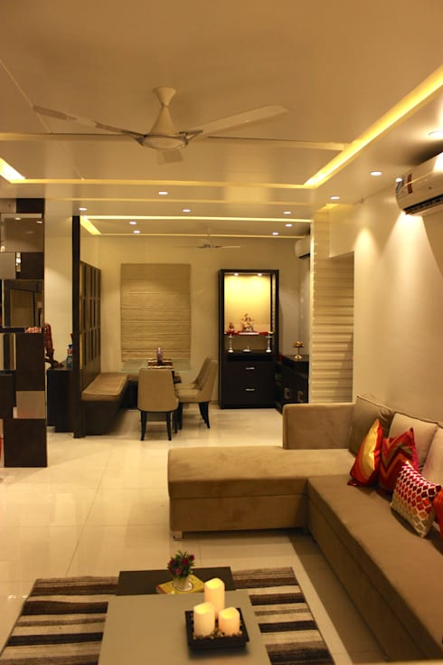 Mystic Moods,Pune:  Living room by H interior Design