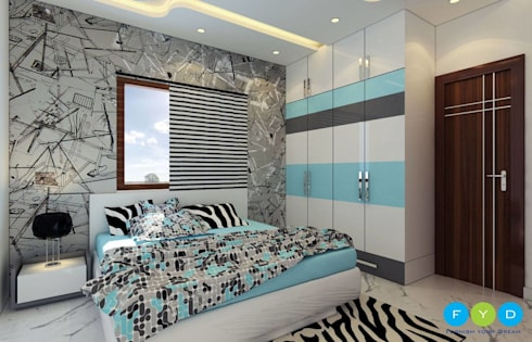 Give your children a space they will Love: modern Bedroom by FYD Interiors Pvt. Ltd
