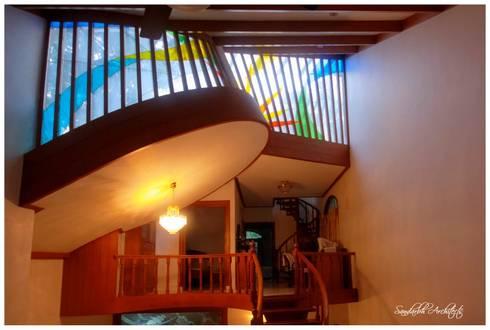 Reddy's residence:  Skylights by Sandarbh Design Studio