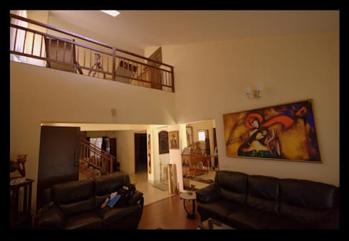 Captain Vijendra—Renovation: eclectic Living room by Sandarbh Design Studio