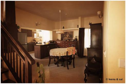 Captain Vijendra—Renovation: eclectic Dining room by Sandarbh Design Studio