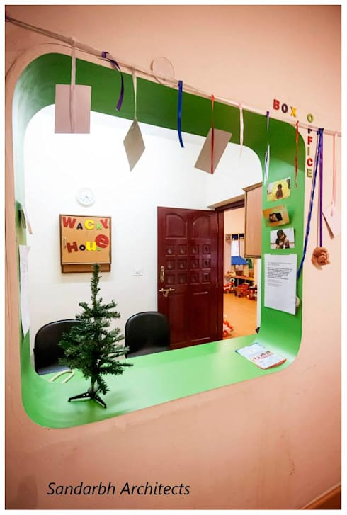 Wacky house:  Schools by Sandarbh Design Studio