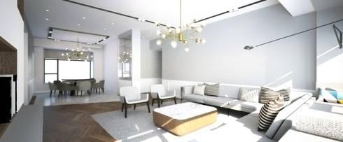 ZHUHAI RESIDENCE: classic Living room by BIGGERTHANstudio