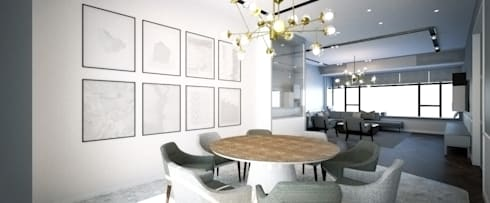 ZHUHAI RESIDENCE: classic Dining room by BIGGERTHANstudio
