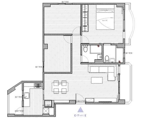 平面配置圖:   by 寬軒室內設計工作室