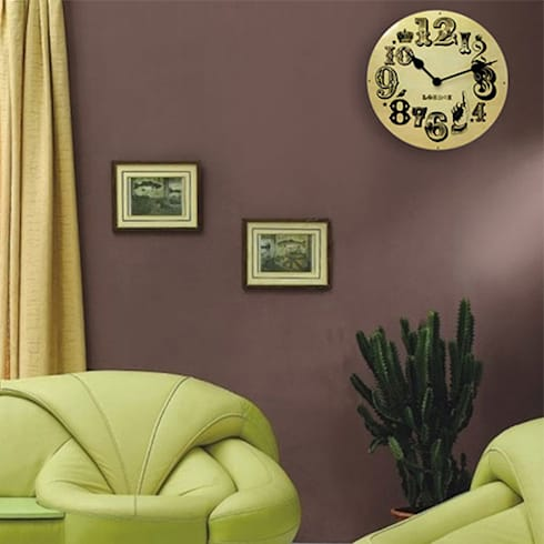 Kairos London Vintage Number Clock: modern Living room by Just For Clocks
