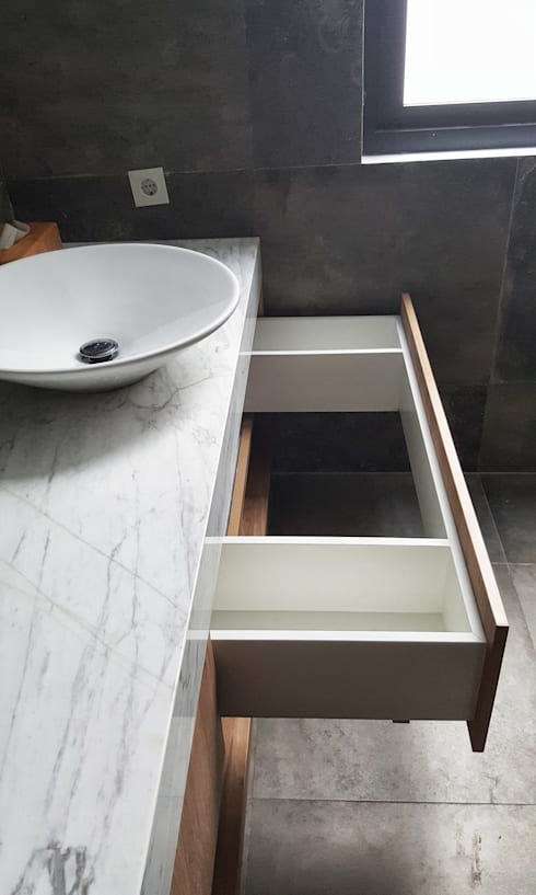 A House: modern Bathroom by KOMA living interior design