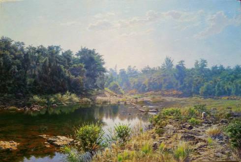 River Devrukh Konkan:  Artwork by Indian Art Ideas
