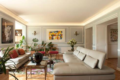 Departamento Forestal : Livings de estilo clásico por Dx Arquitectos