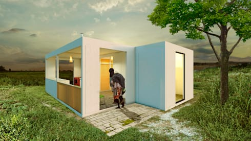 Sistema de vivienda progresiva de tierra negra homify - Casas prefabricadas rurales ...